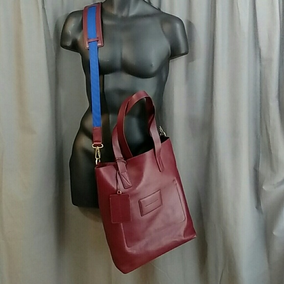 Marc by Marc Jacobs Oxblood Cross Body Tote Bag